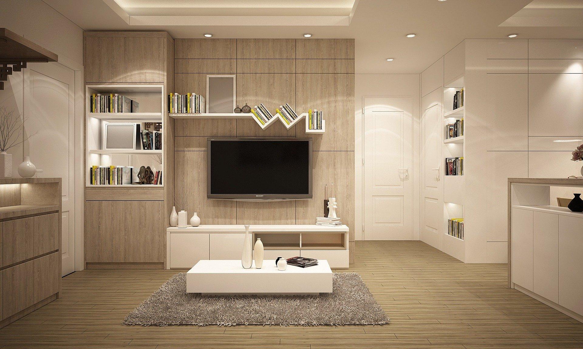 Modern nappali bútorok - a kép illusztráció