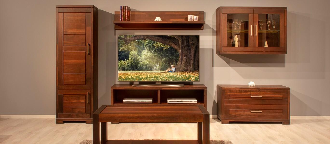 Diófa modern nappali bútorok