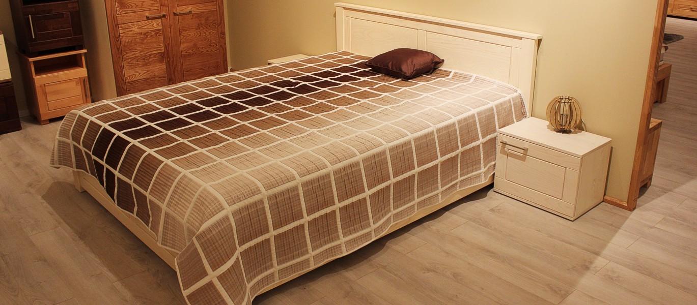 fehér modern kőrisfa ágy