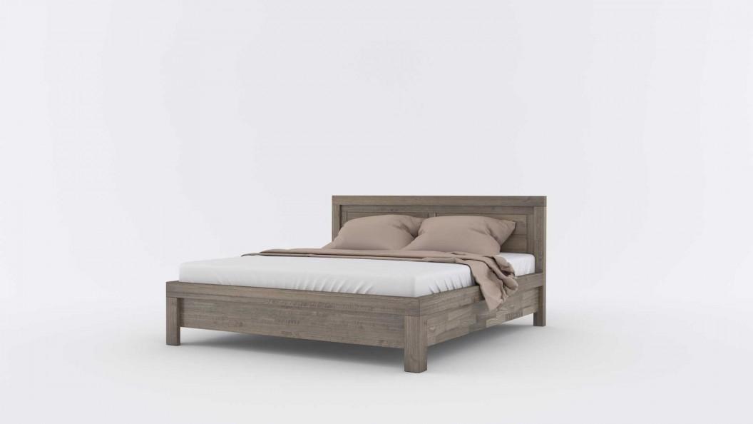 Balamce szürke tömörfa ágy