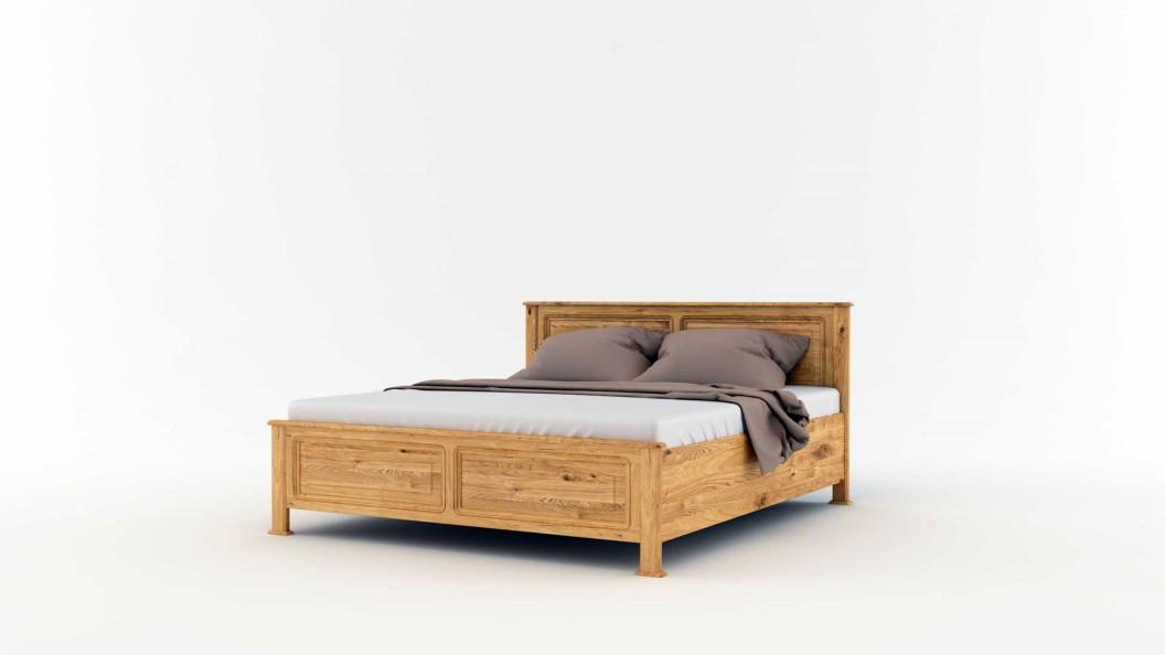 Új egyenes cara ágy tölgyfából