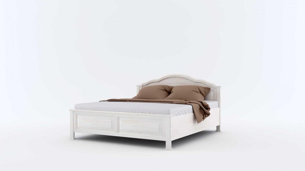 Fehér ágyneműtartós ágy tömörfából