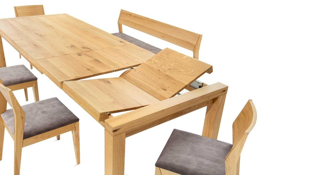 Flow tölgy kihajtható asztal