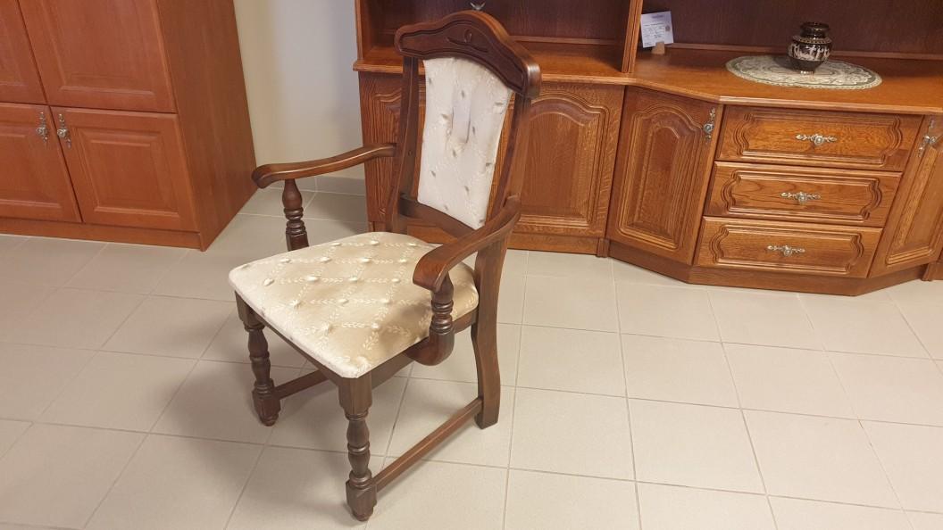 Karfás tömörfa szék