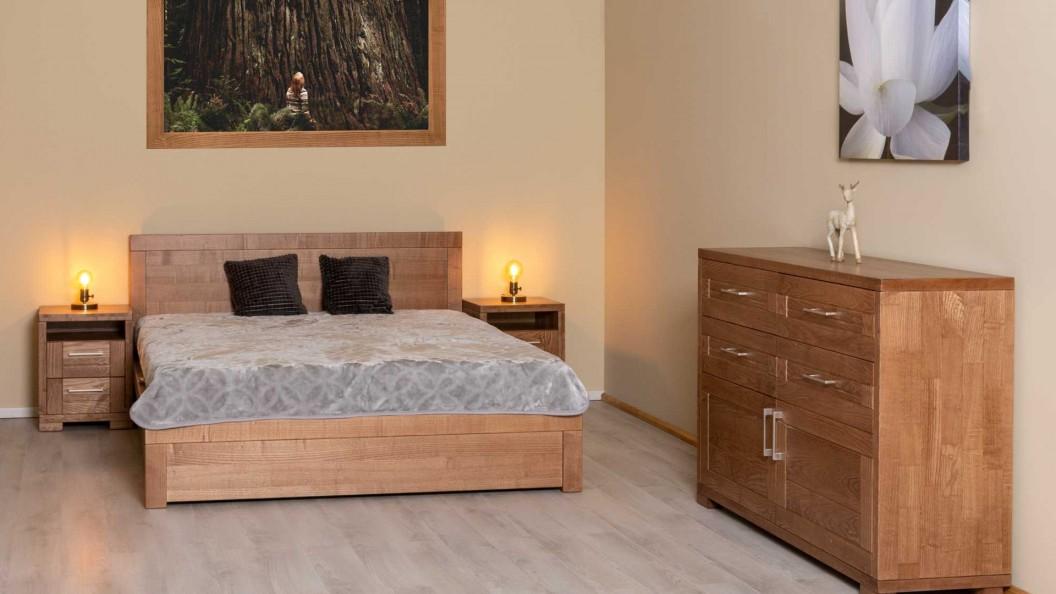 Nova ágy innova komóddal körte színben